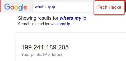 whats my IP - itechhacks