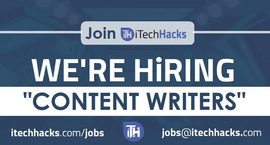 Jobs - We're Hiring ! iTech Hacks