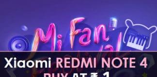 Xiaomi Flash ₹1 Mi Fan Festival Sale Buy Redmi Note 4 at ₹1
