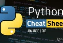 Best A-Z Python Cheat Sheet 2017 (Advance)