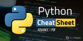 Best A-Z Python Cheat Sheet 2017 (Advance)