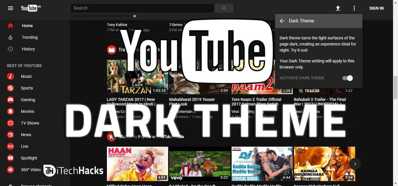 How To Enable YouTube Dark Themes in Chrome, Firefox & Safari