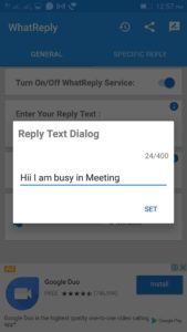 Send Automatic WhatsApp Message Without Root
