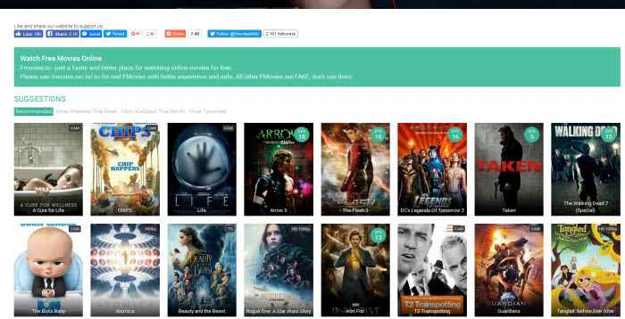 Best Free Movie Websites of 2017