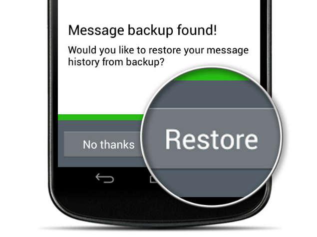 restore backup whatsapp