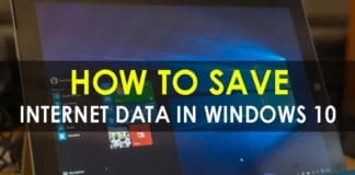 How To Save Internet Data In Windows 10