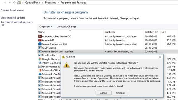 Steps to Uninstall Akamai Netsession from Windows