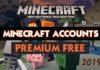 Free Premium Minecraft Accounts & Passwords 2019