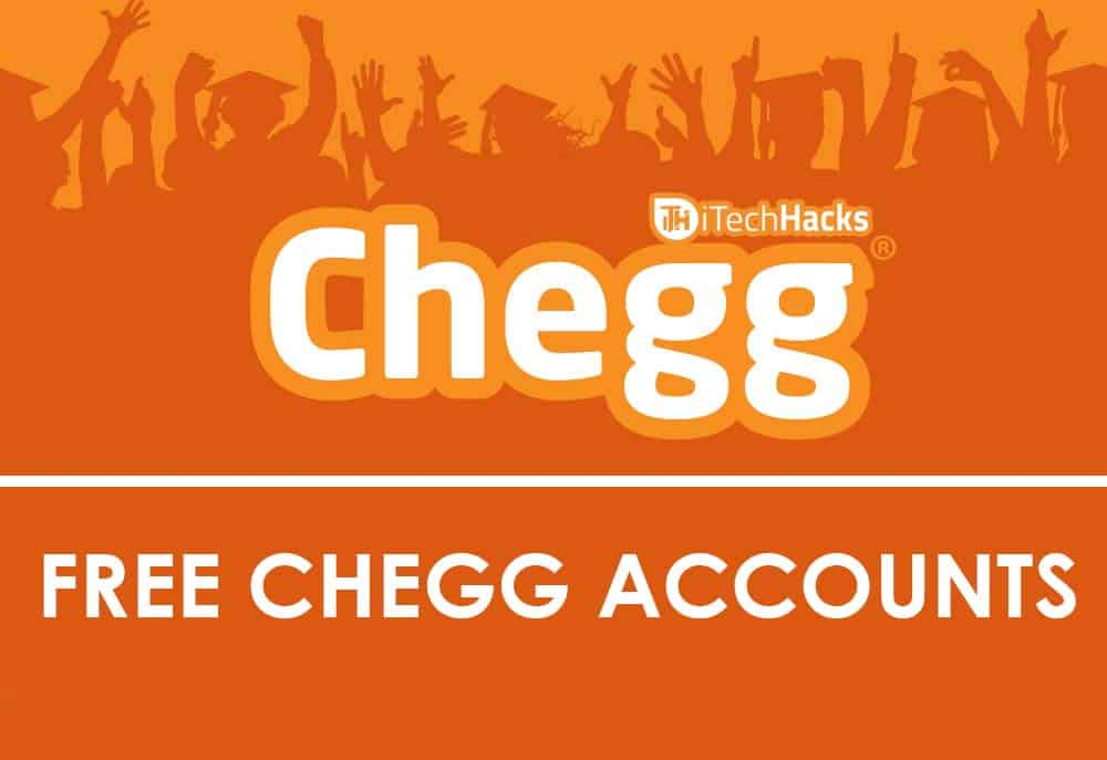 free chegg account username and password 2018