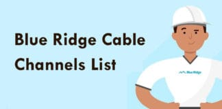 Blue Ridge Cable Channels List & Packages With Numbers