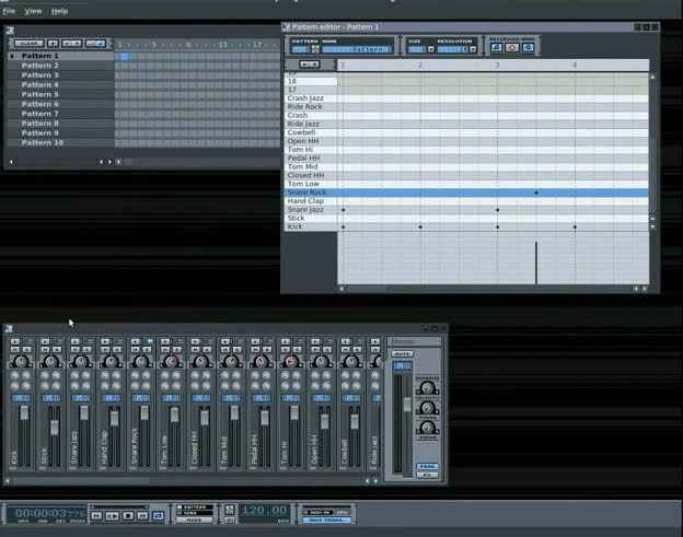 Top Free Open Source Music Making Software  - highcompress Hydrogen Drum Machine - Top Free Open Source Music Making Software 2019