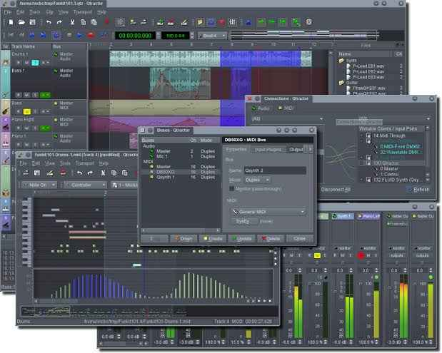 Top Free Open Source Music Making Software  - highcompress Qtractor - Top Free Open Source Music Making Software 2019