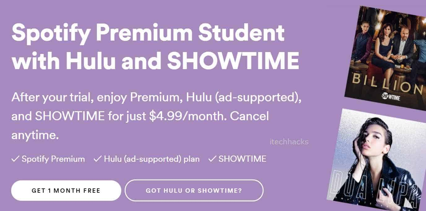 How To Get Spotify Hulu Student Discount in 2020