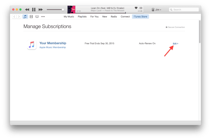 Cancel Apple Music Subscription in iPhone, iPad