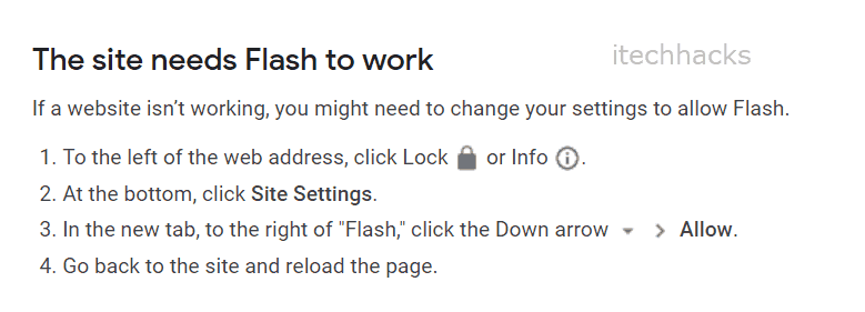 Site Needs Flash