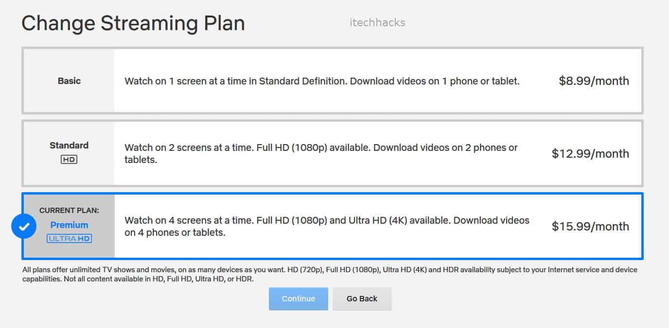 How To Change Netflix Streaming Plan