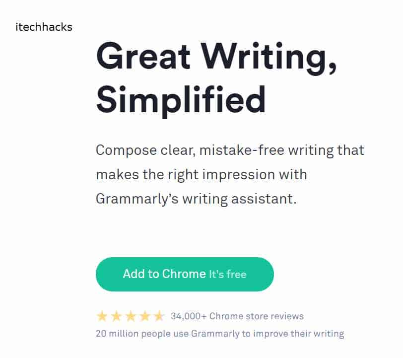 20 million people use Grammarly to improve their writing