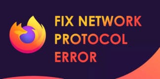 Fix Network Protocol Error on Mozilla Firefox