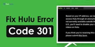 How To Fix Hulu Error Code 301 (6-Methods to Fix!)