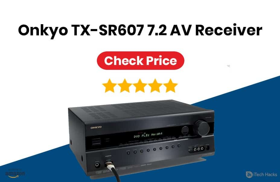 Onkyo TX-SR607 7.2-Channel A/V Surround Home Theater Receiver