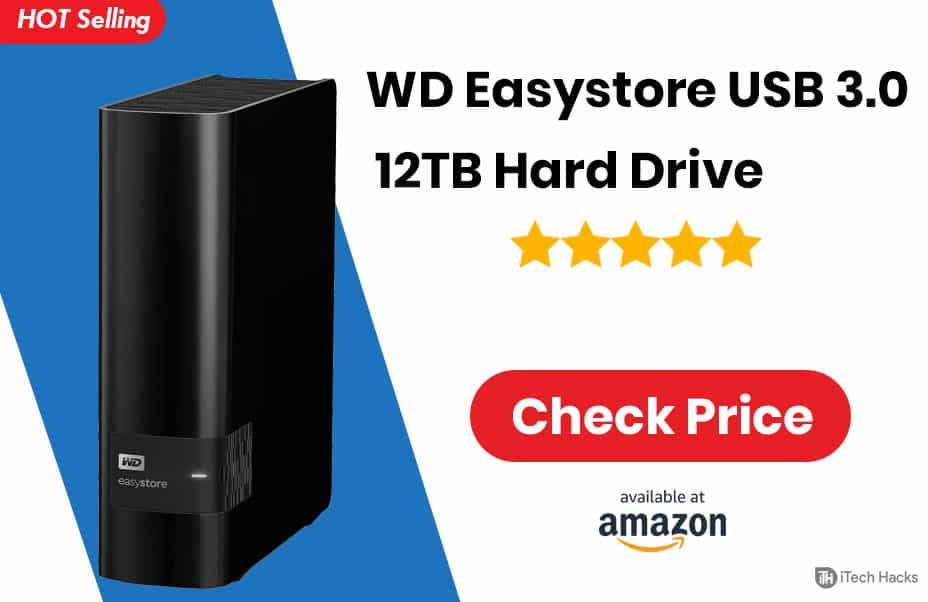 WD Easystore 10TB External Backup Drive