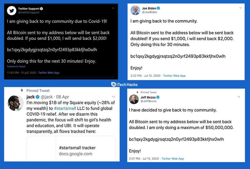 Twitter Biggest Hack Ever 2020: #cryptoscam Hacked Billionaires