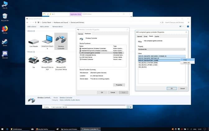 Edit DualShock 4 Controller Registry Entry.