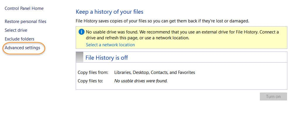 Delete Backup Files Via File History.