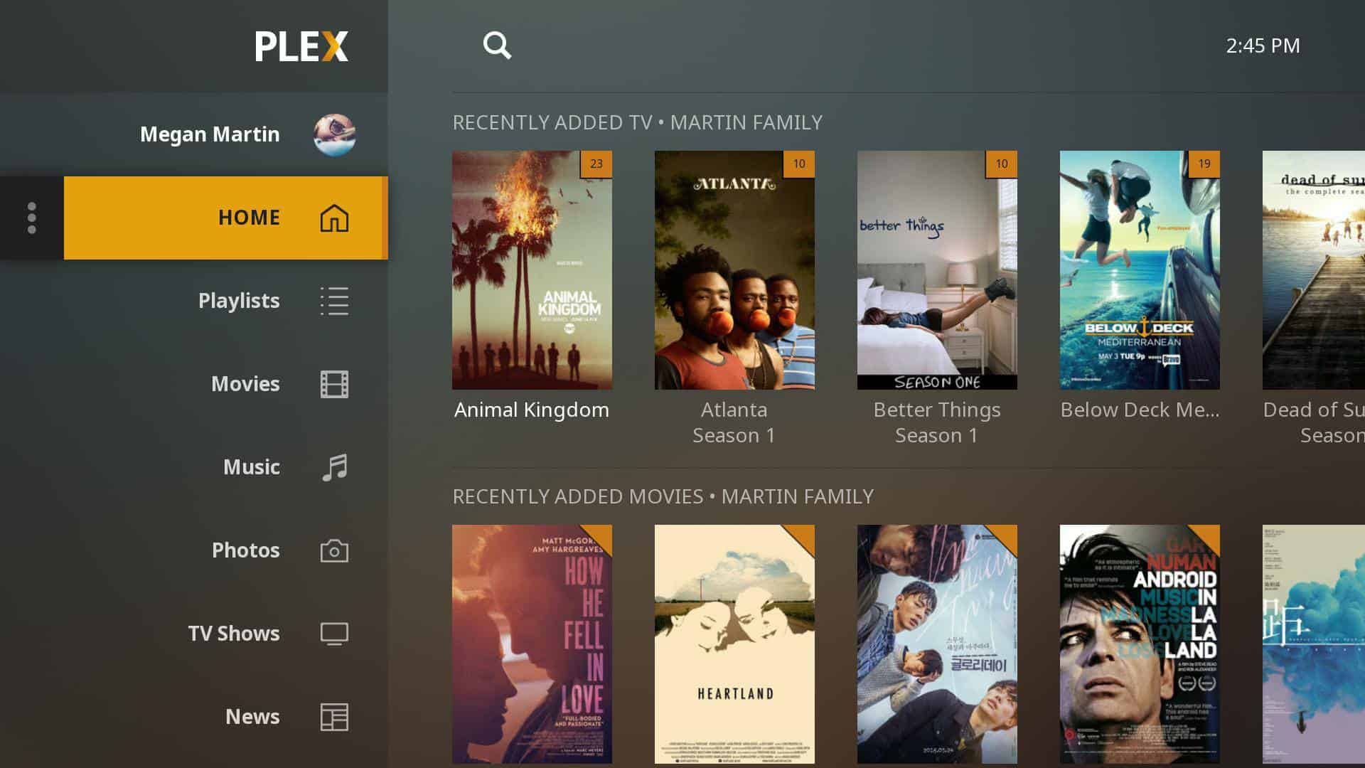 Features of Emby and Plex