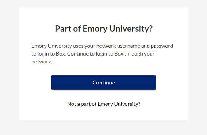 How to Create and Login to Emory Box Accounts