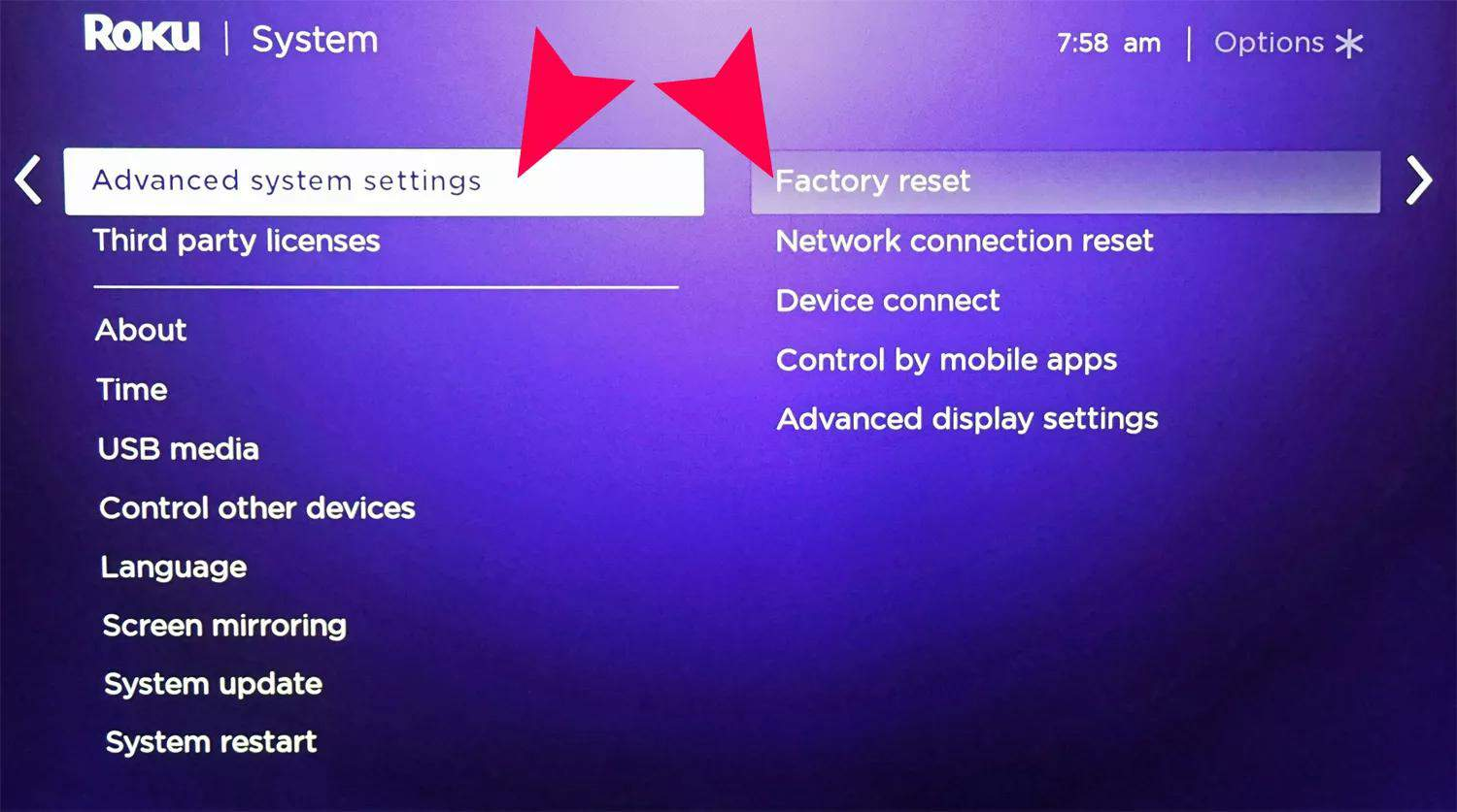 How to Factory and Soft Reset Roku