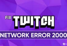 How To Fix Twitch Network Error 2000 on Chrome