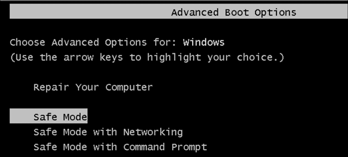 Launch Windows in Safe Mode
