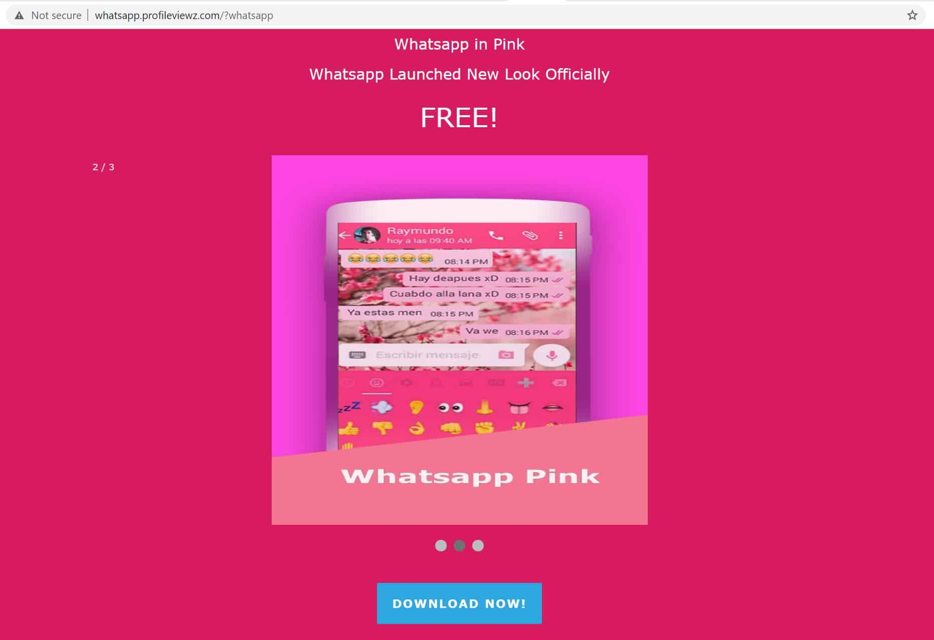 What is WhatsApp Pink?