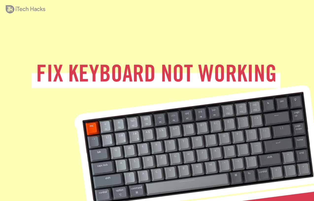 Fix Keyboard Stopped Typing on Windows 10