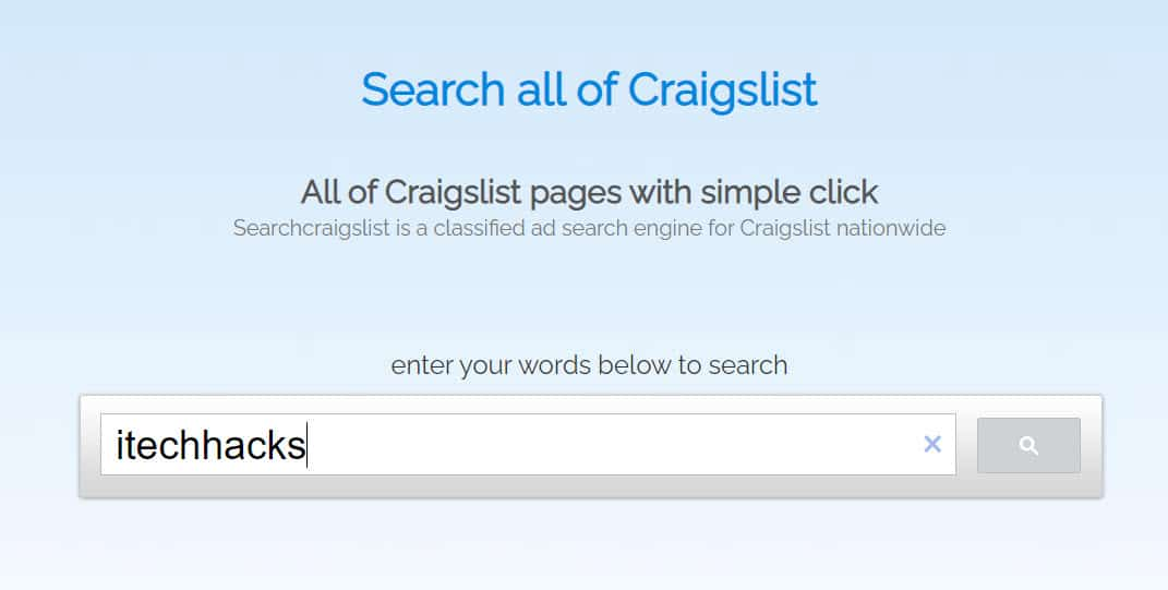 Searching Using SearchCraigslist.org