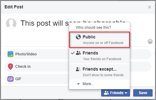 Make A Post Shareable On Facebook Using Your PC