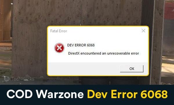 How To Fix COD Warzone Dev Error 6068 in Windows 10