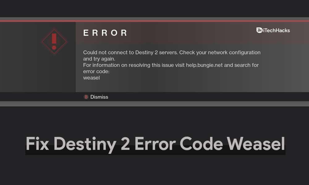 destiny 2 error code weasel