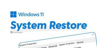 System Restore Windows 11