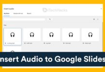How To Insert Audio Recording Into Google Slides