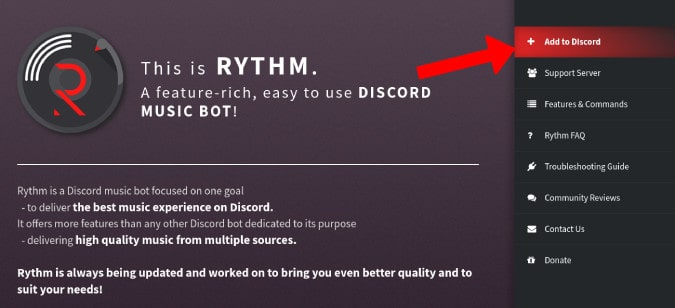 How to Add Rhythm Bot to Discord Channel