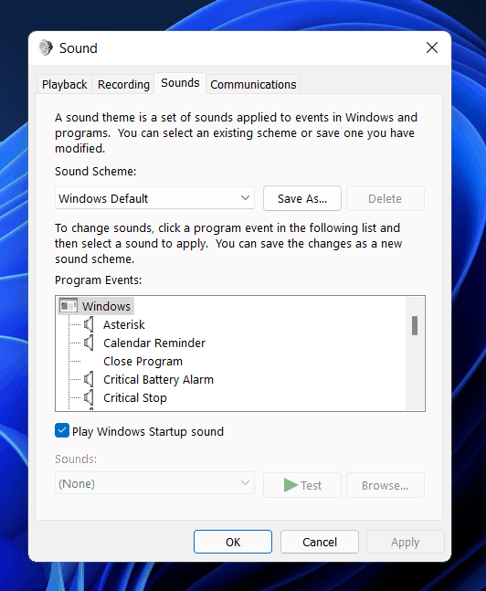 How To Enable Or Disable Startup Sound On Windows 11?