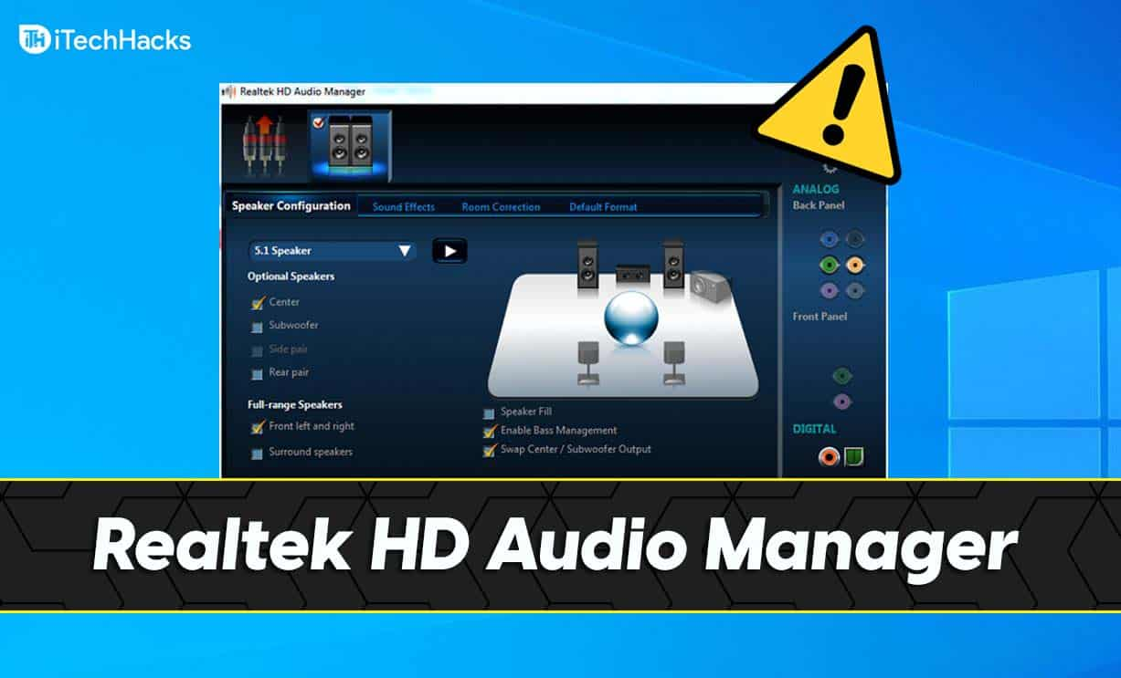How To Download and Install Realtek HD Audio Manager