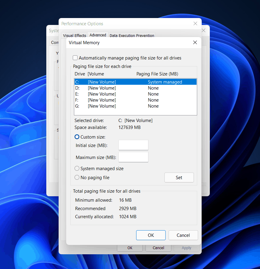 How To Change Virtual Memory Size In Windows 11?