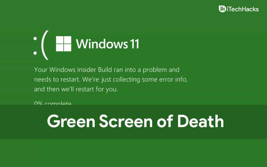 How To Fix Windows 11 Green Screen of Death Crash Error