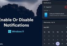 How To Enable Or Disable Notifications On Windows 11