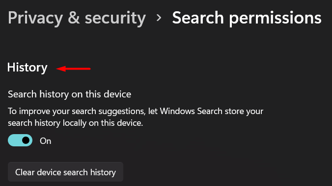 Disable Windows 11 search history - 6