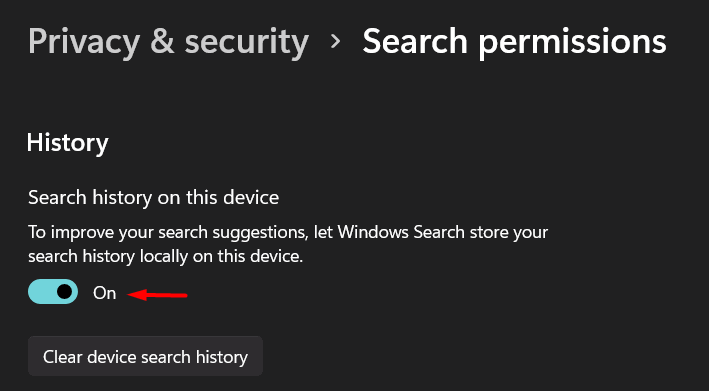 Disable Windows 11 search history - 7