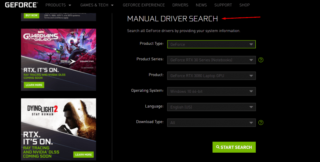 Download manual drivers package - (2)